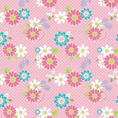 Riley Blake - Dream & A Wish Floral (Pink/Multi) Fabric